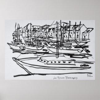 Poster La Roche-Bernard, la Bretagne de la rivière   de