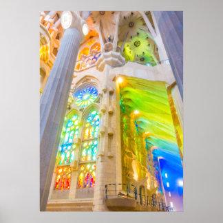 Poster La Sagrada Família - Barcelone, Espagne