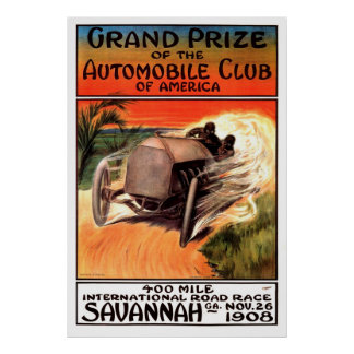 Poster La savane internationale GA 1908 d'épreuve sur