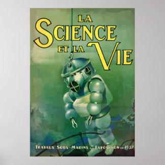 Poster La Science et la Vie (france - 1937)