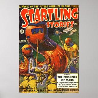 Poster La science-fiction effrayante vintage de pulpe
