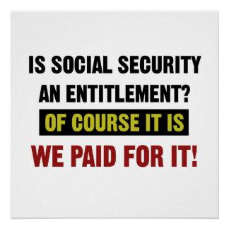 Poster La sécurité sociale est un droit, nous a payé lui