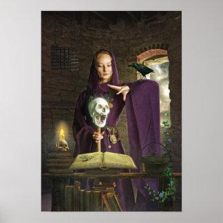 Poster La sorcière jetant son sort