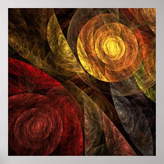 Poster La spirale de la copie d'art abstrait de la vie