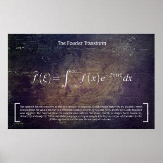 Poster La transformée de Fourier - Affiche de maths