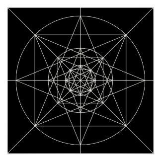 Poster La troisième géométrie sacrée dimensionnelle