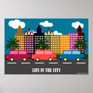Poster La vie dans la ville