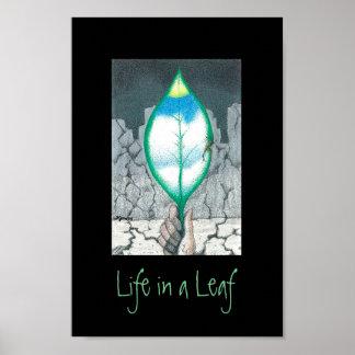 Poster La vie dans une feuille