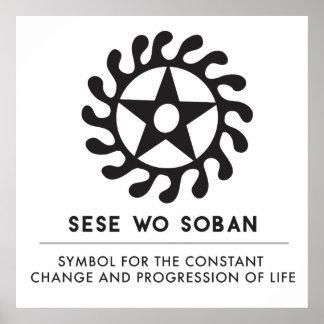 Poster La vie d'OE Soban de Sese change le noir de