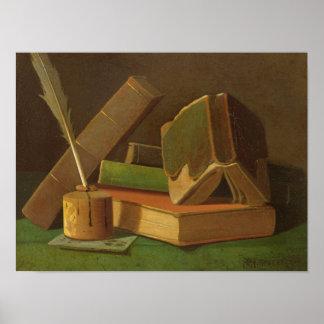 Poster La vie toujours avec les livres et le puits
