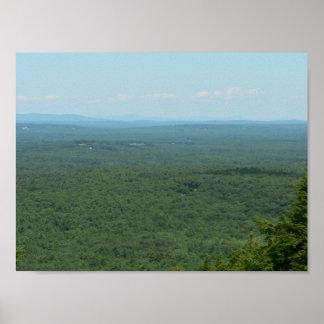 Poster La vue du bâti Agamenticus, Maine