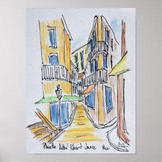 Poster L'Abbe Robert de Placette a cogné vieux Nice de |,