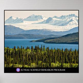 Poster Lac Altin et l'affiche de champ de glace de Juneau
