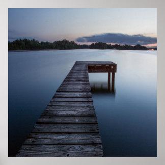 Poster Lac et Bateau-dock Ozarks