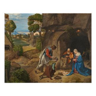 Poster L'adoration des bergers, 1505-10