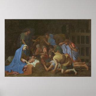 Poster L'adoration des bergers circa 1653