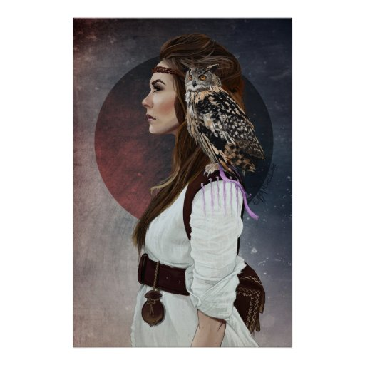 """Poster """"Lady Owl"""""""