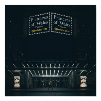 Poster L'affiche de chapiteau de théâtre de princesse de