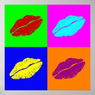 Poster l'affiche des lèvres