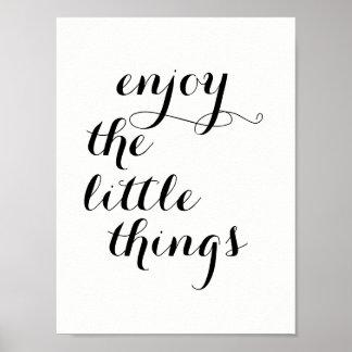 """Poster L'affiche inspirée """"apprécient les petites choses"""