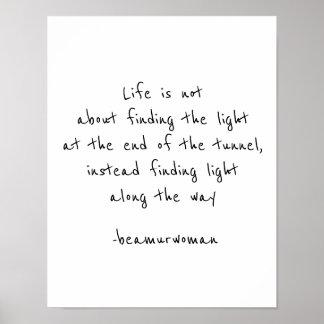 Poster L'affiche pour encadrer trouvent la lumière le