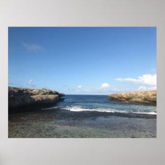"""Poster L'affiche «rochers dans la mer """""""