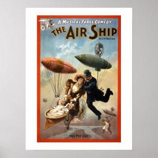 Poster L'affiche vintage de théâtre de dirigeable