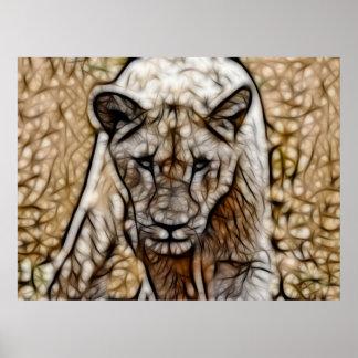 Poster L'Afrique du Sud je suis art de lion