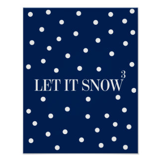 Poster Laissez lui neiger signe d'affiche de vacances de