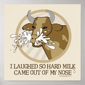 Poster Lait de vache mon nez