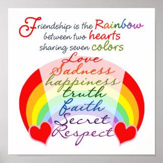 Poster L'amitié est l'arc-en-ciel BFF