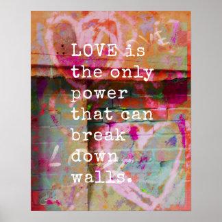 Poster L'amour décompose l'affiche inspirée des murs |