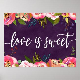 Poster L'amour Editable de floraison de mariage de