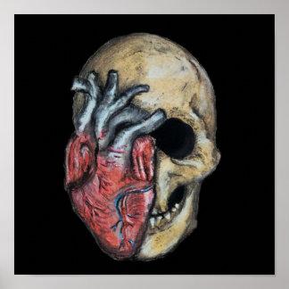 Poster L'amour ou meurent crâne