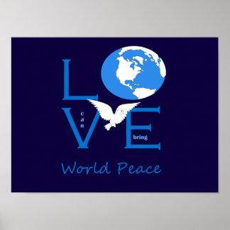 Poster L'amour peut apporter la paix du monde