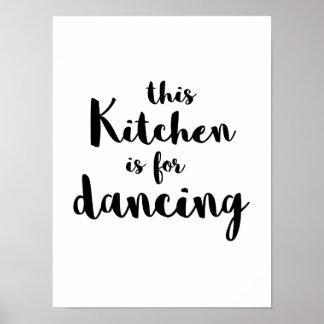 Poster L'amusement original cette cuisine est pour la