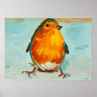 Poster L'anglais rouge mignon Robin