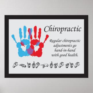 Poster Langue des signes d'ajustements de chiropractie