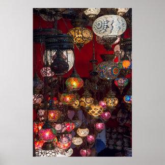 Poster Lanternes turques au marché
