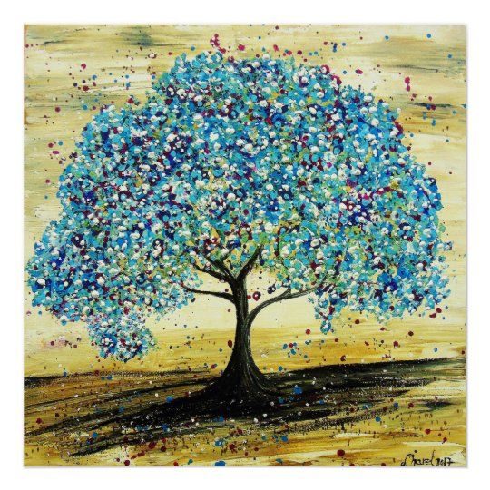 Poster L'arbre Turquoise