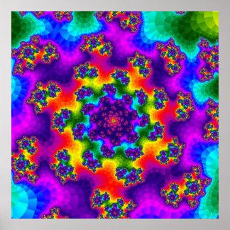 Poster L'arc-en-ciel floral arrose l'affiche
