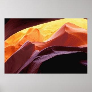 Poster L'Arizona, formations de grès du canyon | de Paria