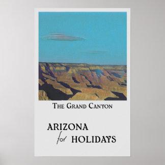 Poster L'Arizona pendant des vacances - le canyon grand