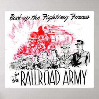 Poster L'armée de chemin de fer - soutenez les forces de