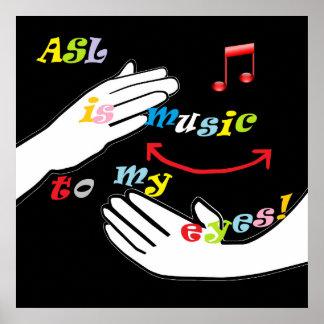 Poster L'ASL est musique à mes YEUX !