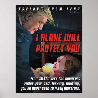 Poster L'atout nous protège contre les monstres