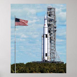 Poster Launchpad de système Rocket de lancement de