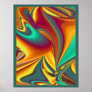 Poster L'automne d'été de ressort fleurit la magie