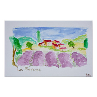 Poster Lavande Fields Abbaye de Senanque | Provence