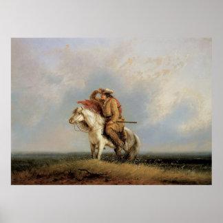 Poster Le blanc-bec perdu, perdu sur la prairie par
